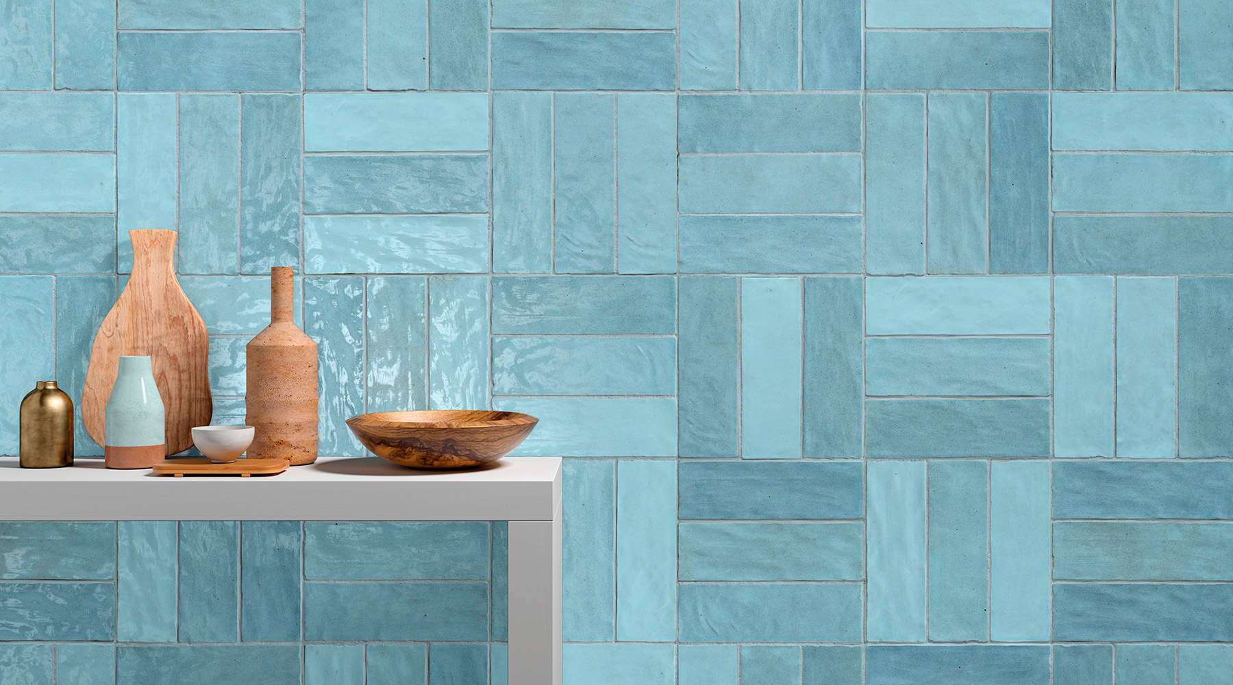 piastrelle in gres azzurre in cucina